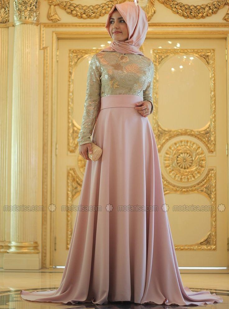 Dream Evening Dress - Powder Pink - Pınar Şems