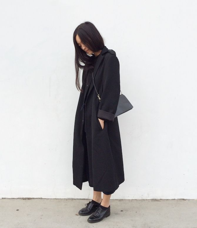 What I always wear. Y's by Yohji Coat, Jil Sander bag, Ettore Adriano Shoes.