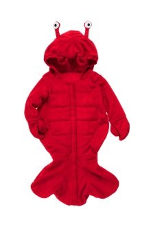 Halloween costume for baby... with legs NOT in the the tail, so my baby can move around :) all I need is a chef hat and coat, to cook up my lil' lobster :)
