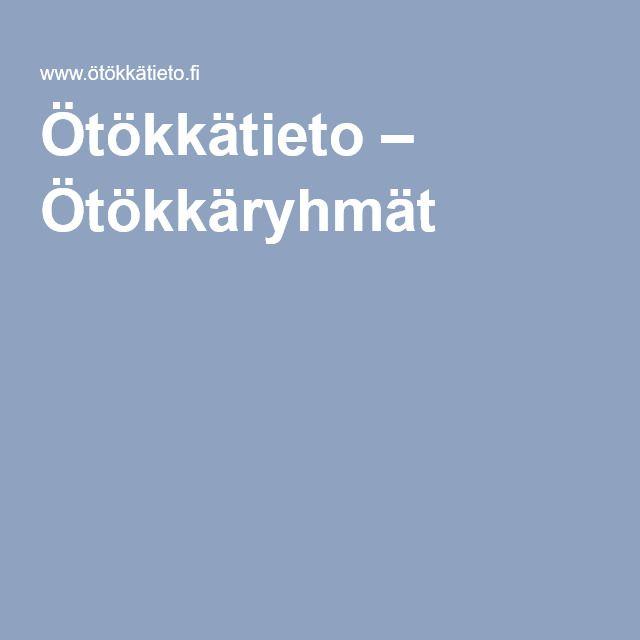 Ötökkätieto – Ötökkäryhmät.