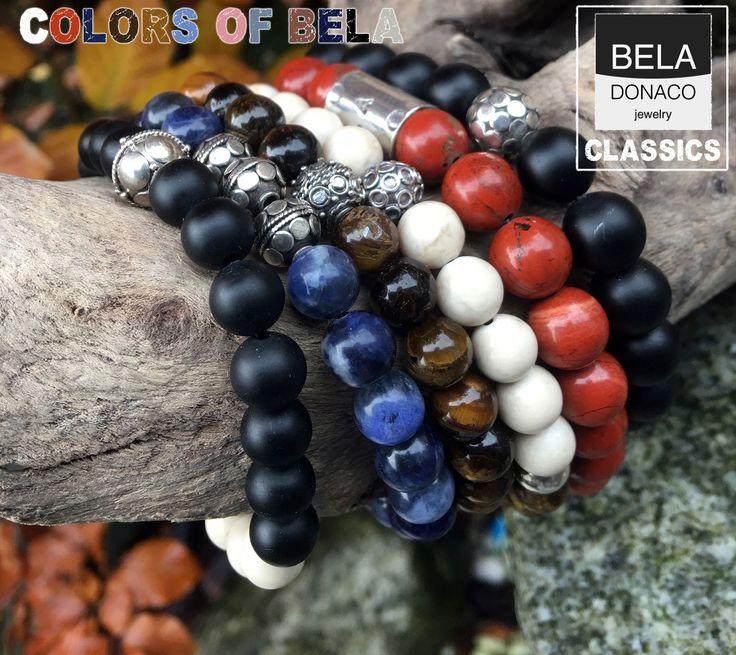 Nieuwe kleuren van Bela Donaco. Mooie edelstenen en prachtige Sterling zilveren kralen.