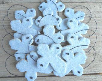 Baptism Favors Set of 10 Cross Salt Dough Ornaments