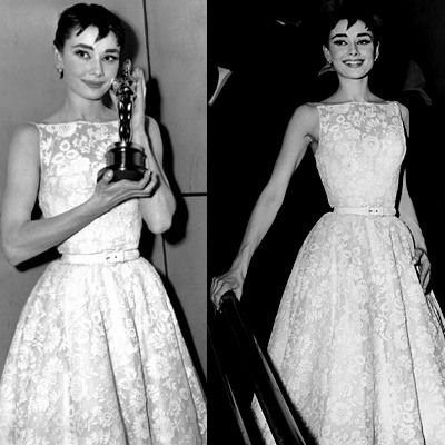 audrey hepburn in givenchy dress when she won the oscar in 1954. bess dressed of all time!