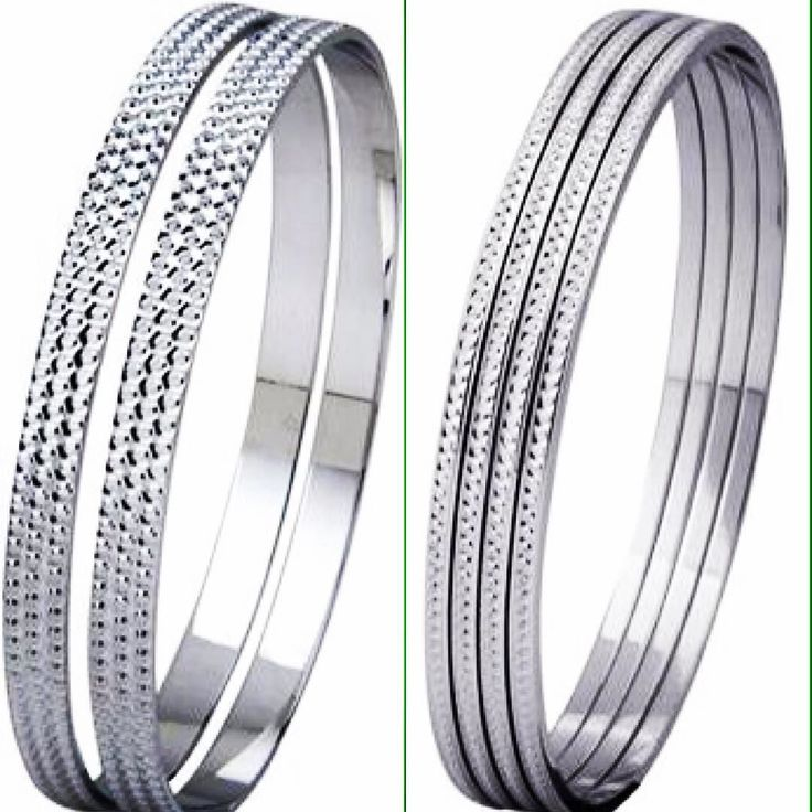 SJ PTO 307 (left) & SJ PTO 314 (right) plain platinum bangles with full diamond cut! The brilliance of diamonds at the price of platinum. Available at a special price is  3500 per gram only at http://ift.tt/1ZRJe4X #jewelove #jewelry #bangles #bangle #jewellerymonthly #jewelleryoftheday #platinum
