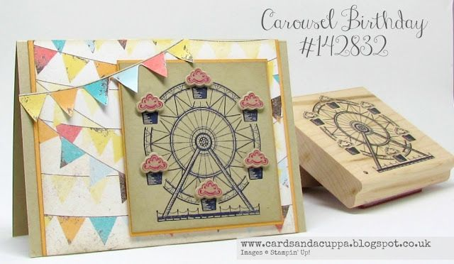 Sarah-Jane Rae cardsandacuppa: Stampin' Up! UK Order Online 24/7: Saturday Sharing! A Cupcakes and Carousels Card and a Video Tutorial too!