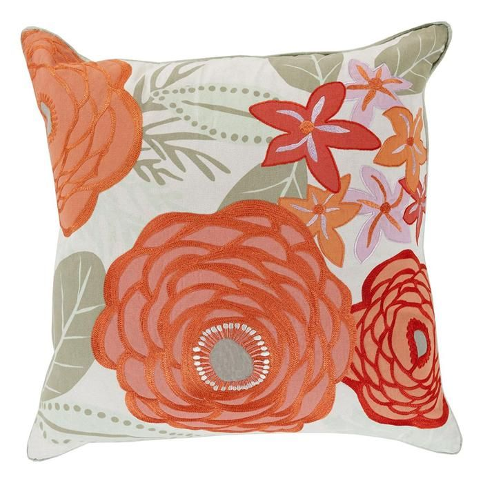 20 X 20 Flawlessly Floral Down Fill Pillow In Multicolor