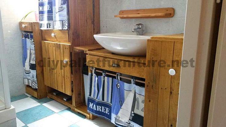 10 bra idéer att dekorera ditt badrum med pallar 6