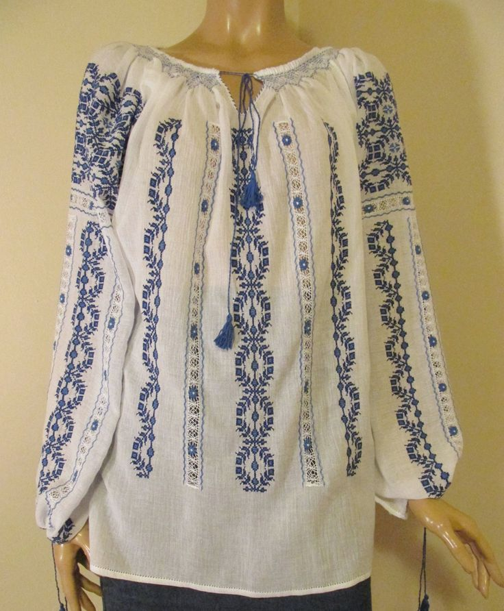 Hand made gorgeous Romanian blouse at www.greatblouses.com