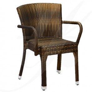 ESTELLE A (cu brate) - scaun terasa ratan sintetic | TRENDfurniture Collection