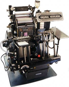 """COMO LA MUESTRA!"" Original Heidelberg Windmill (electric) #printing #heidelberg @imprentagrau"