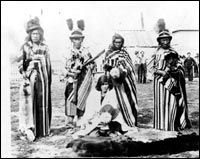 Big Bear, at right, and other Cree chiefs.