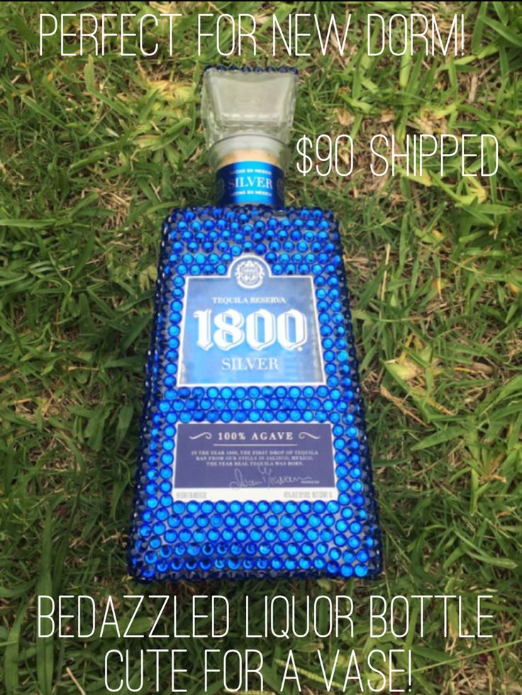 Bedazzled liquor bottle! Purchase on Etsy! @TheRusticSkull                                                                                                                                                                                 More