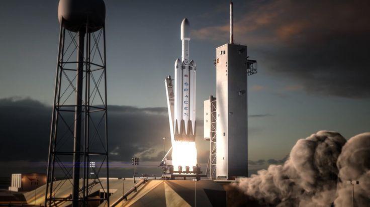 #SpaceX #FalconHeavy Flight Animation