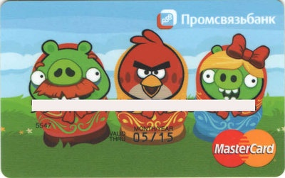 ANGRY BIRDS Russia Credit Card MasterCard  Angry Card  Limited edition