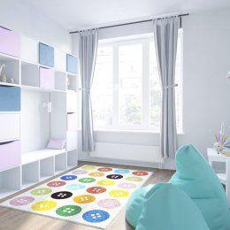Студия LESH | Вместо привычной игровой зоны дизайнер создал полноценную комнату для игр, в которой дети полностью могут погрузиться в мир забав и веселья.