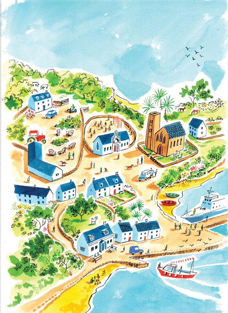 Sarah McMenemy ✿ Isle ✿ Port ✿ Map ✿ #Illustration