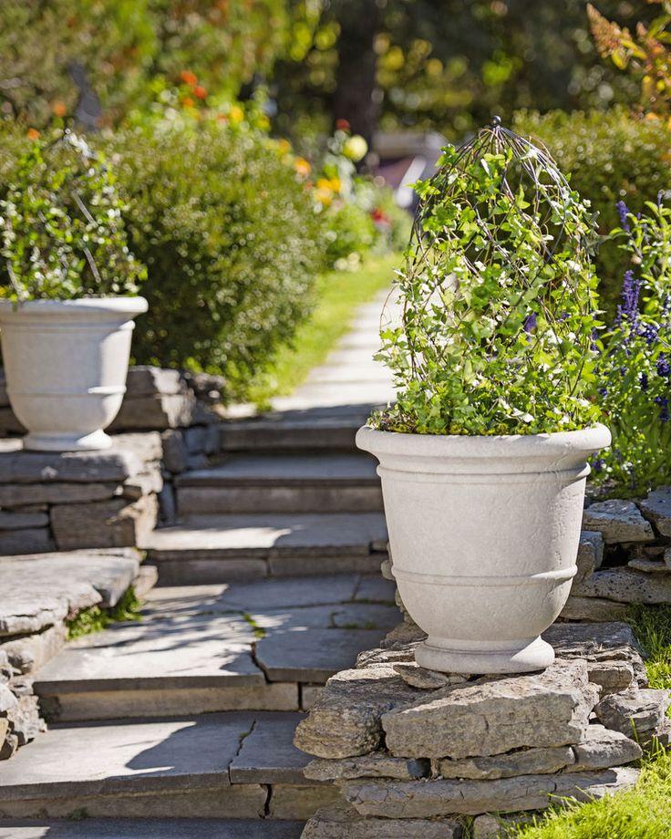 Urn Planters - Kylemore Outdoor Urn Planter - Resin Stone Planters
