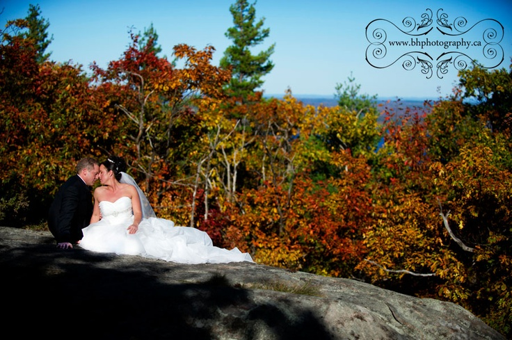 """Great photograph of a fall wedding at  Calabogie Peaks by """"BH Photography"""""""