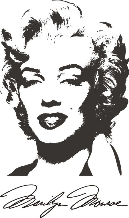 Marilyn Monroe Face Silhouette Tattoo Marilyn monroe 6