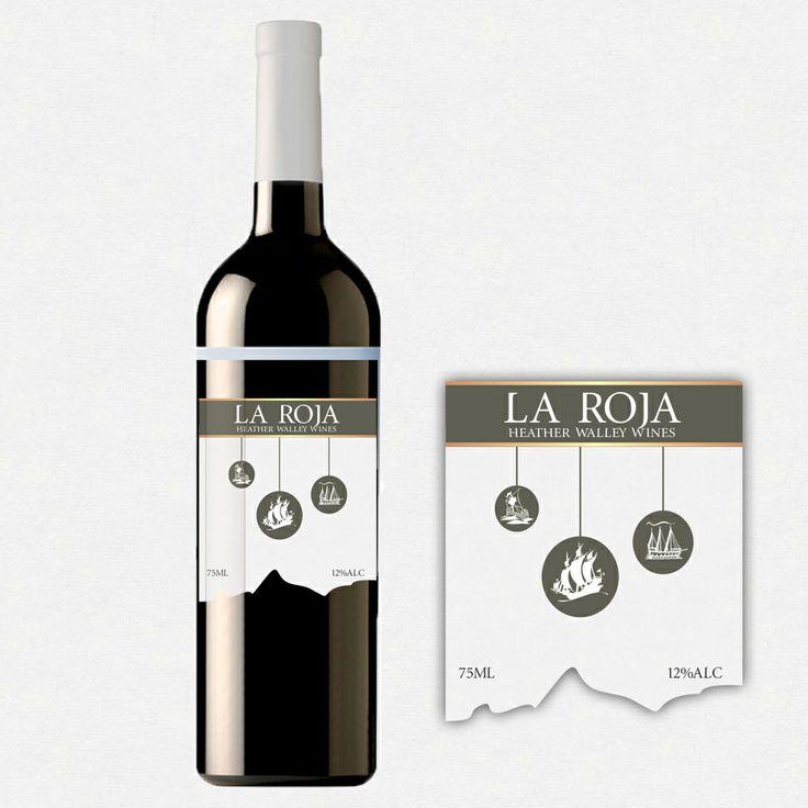 Chilean wine la roja