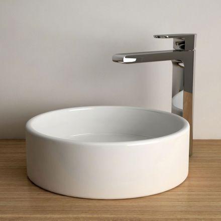 Vasque à poser ronde 35 cm céramique, Pure