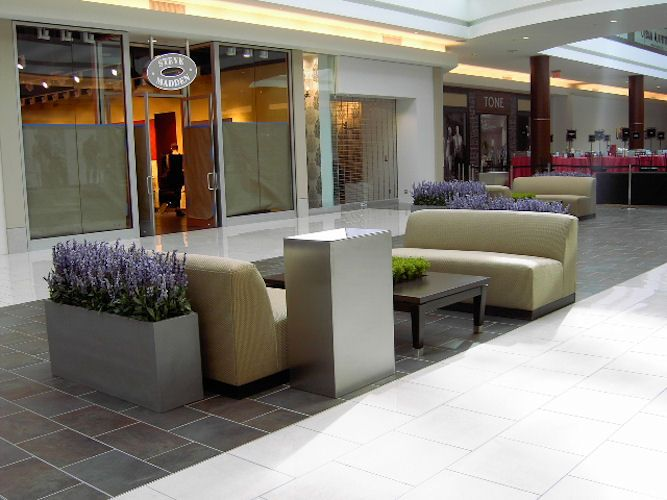 Plant design at Cherry Hill Mall by Ambius Sr. Project Manager, Denise Eichmann.