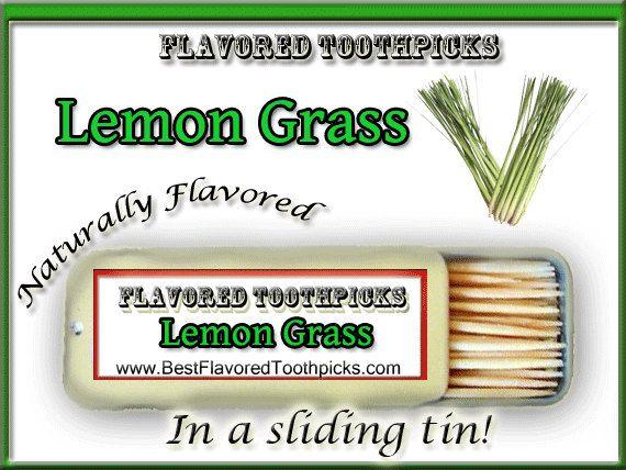 Lemongrass Tea Flavored Toothpicks  70 by FlavoredToothpicks