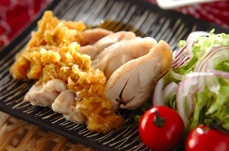 ゆで鶏のネギダレがけのレシピ・作り方 - 簡単プロの料理レシピ | E・レシピ