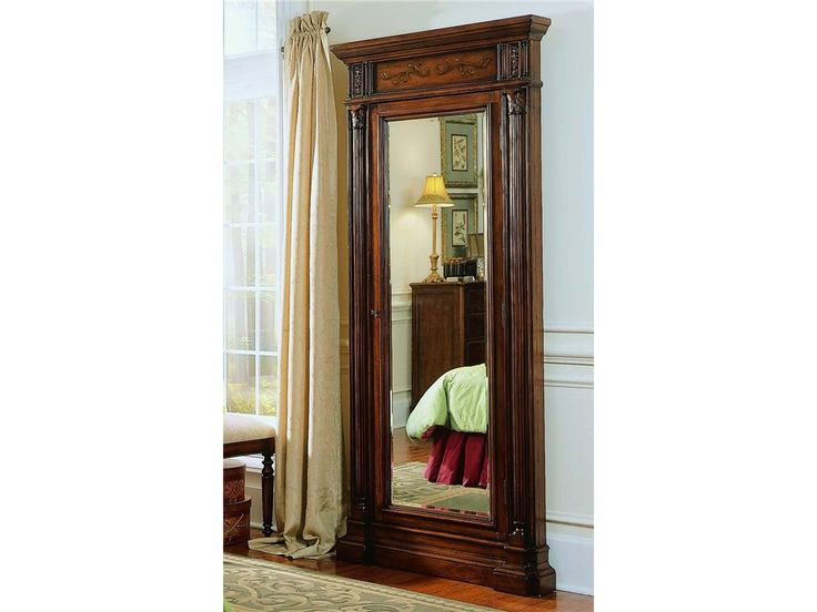 hooker furniture accents seven seas floor mirror w jewelry armoire storage 500 50 558 home. Black Bedroom Furniture Sets. Home Design Ideas