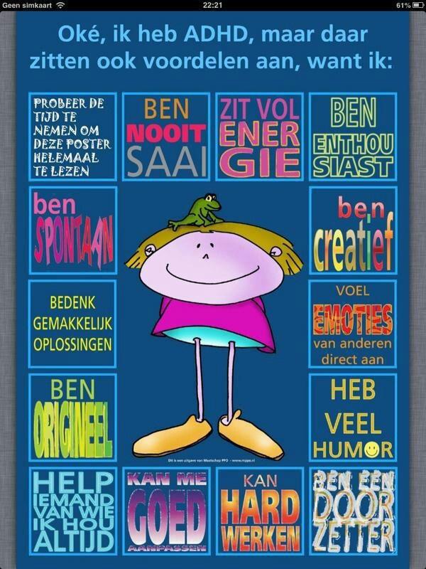 Het onderwerp De leuke kanten van ADHD