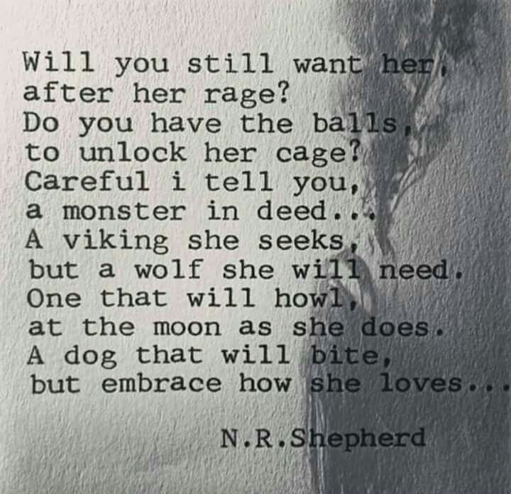 Will you still want her after her rage?