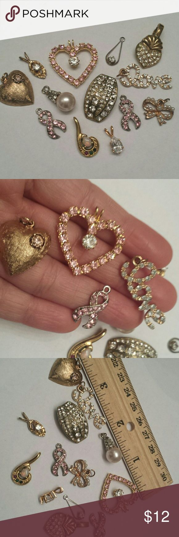 13 Valentine charms 13 pretty charms for you to add to Valentine cards for your closest friends. Vintage  Jewelry Necklaces
