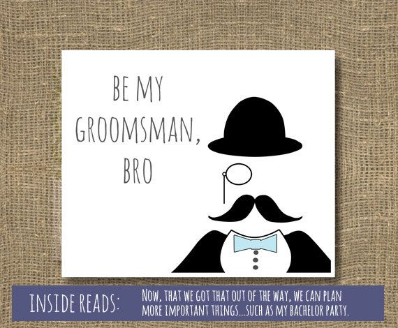 Be My Best Man / Groomsmen / Will You Be My Groomsman / Be My Usher / Will You Be My Best Man - Wedding Invitation on Etsy, $4.00
