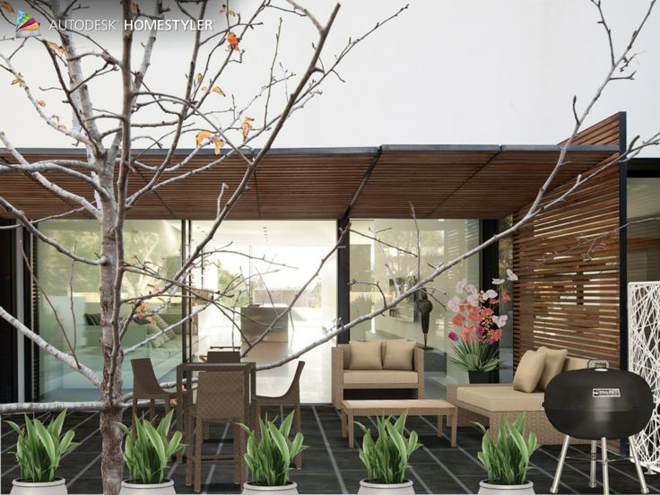 """Check out my #interiordesign """"Outdoor relaxing"""" from #Homestyler http://autode.sk/1h1Bll7"""