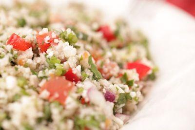 Fleur de taboulé - Salade de taboulé fait à partir de chou-fleur.