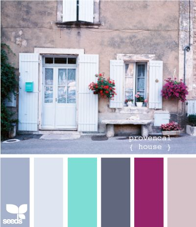'Provencal house' color palette. For more kids room decorating and organizing ideas visit https://www.facebook.com/KidsRoomDecor you may find something you 'LIKE'