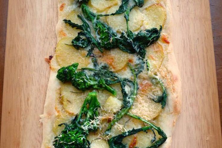 Broccoli Rabe, Potato and Rosemary Pizza recipe on Food52