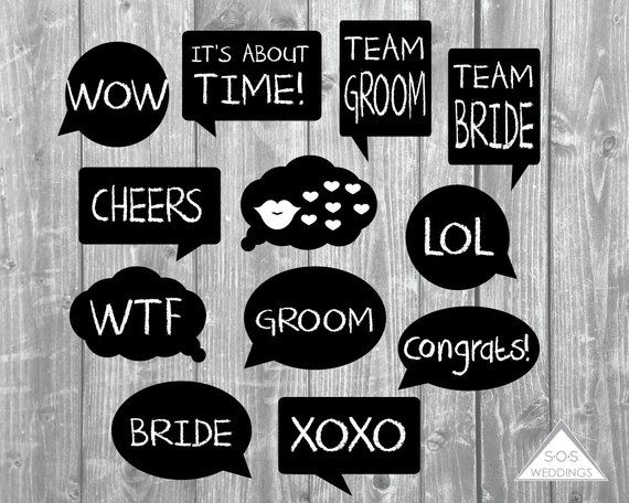 Word Bubble Photo Booth Signs Wedding Photobooth Signs Photo Etsy Diy Wedding Photo Booth Diy Photo Booth Wedding Photobooth Sign