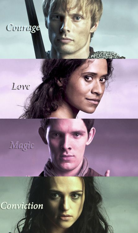 Courage, love, magic, conviction.
