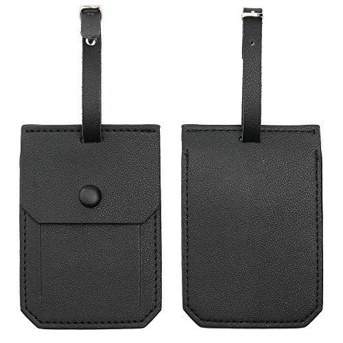 Kevancho Leather Luggage Tags for Men Women, Suitcase Labels
