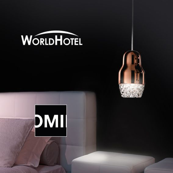 Axo Light invites you to attend WorldHotel fair between 12 -14 October in Warsaw. Omii Agata Sloma, the architecture studio who conceived the booth, presents the concept of a luxury hotel room: a selection of objects of the most important design brands will be exhibited and Axo Light lamps has been chosen to enlighten this room.