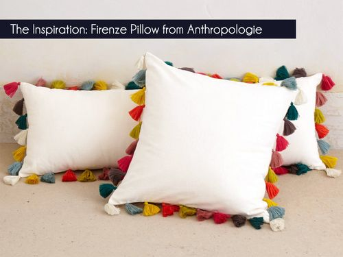 Designer Pillow Knock-Offs with Fairfield: Tufted Multi-Color Pom Pillow | Sew4Home