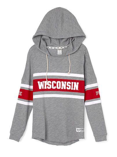 University of Wisconsin Varsity Pullover Hoodie PINK