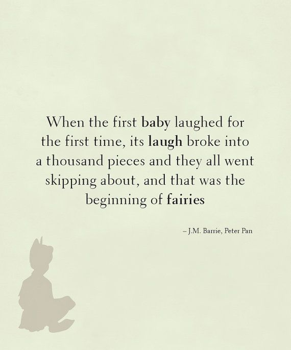 Peter Pan quote  Baby laughters by BebeRococo on Etsy