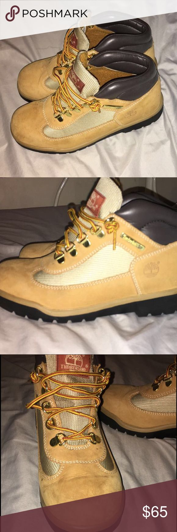 Timberland Field Boots Children's size 4.5, Will fit a Women's size 5. Worn a handful of times. Make me an offer ✨ PAYPAL ONLY. Timberland Shoes Lace Up Boots
