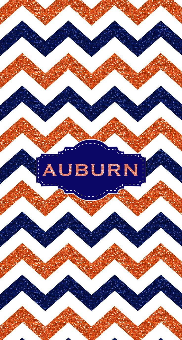 War Eagle Auburn Glitter Monogram wallpaper.  Made with @MonogramApp