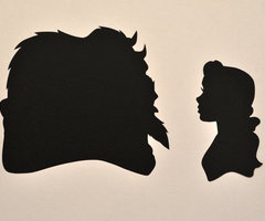 Beauty and the Beast: Beast Silhouette, Silhouette Paintings, Beautiful Beast, Beauty Beast, Beauty Thebeast, Did Disney Silhouette, Beauty And The Beast, Cameo Silhouettes, Beautiful Belle