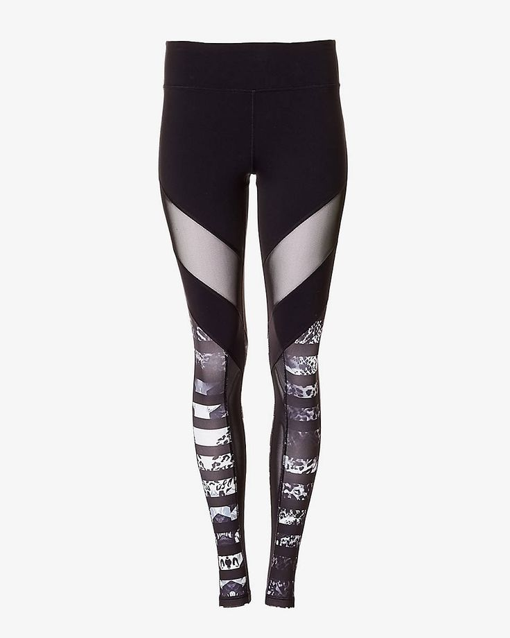 This EXP Core legging is made of body hugging compression fabric that's as tough and as flexible as you're working to be! Flat seams ensure a wide range of motion, as stylish abstract animal print stripes and mesh insets make this one wild look.