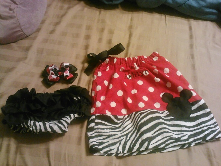 Mickey Set $35.....dress, ruffel panties, and hairbow!!! Can be made in any theme or colors!!!  https://www.facebook.com/pages/Tutu-Cute/171729329580274