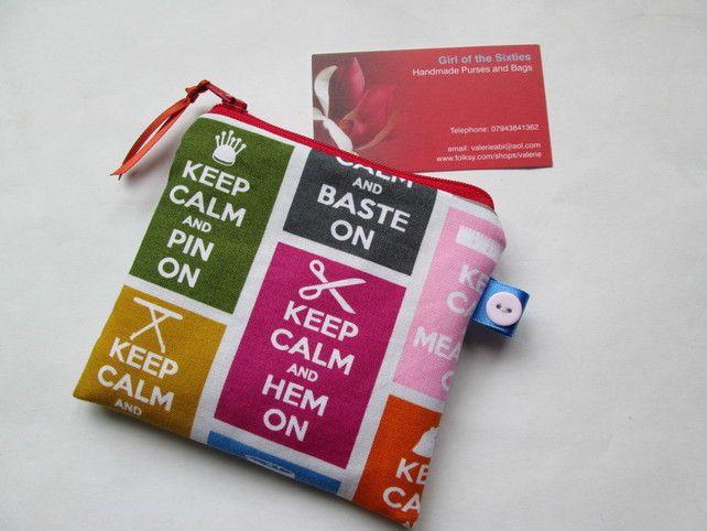 Keep sewing purse  £5.00